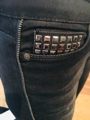 Mango Jeans cigarette gris foncé