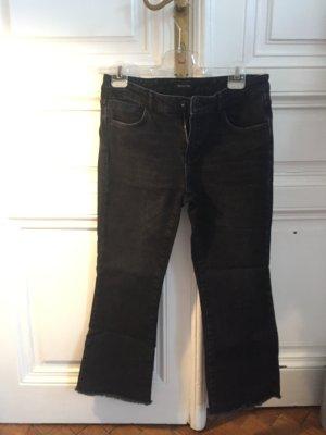Massimo Dutti Jeans 7/8 gris foncé-noir