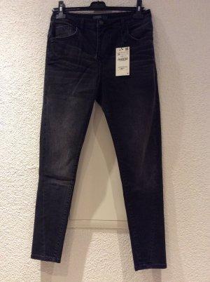 Dunkelgraue Jeans von Zara Basic