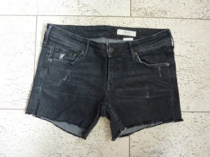 Dunkelgraue Jeansshorts