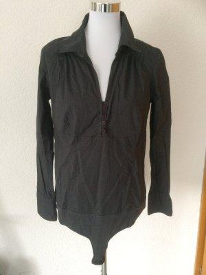 dunkelgraue langärmelige Bodybluse / Bluse von Vero Moda - neu - Gr. XL