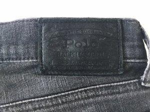 Dunkelgraue Ralph Lauren Jeans in used Optik