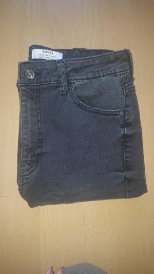Bershka High Waist Trousers dark grey