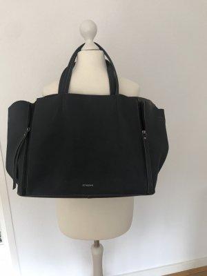 Dunkelgraue Trapez-Tasche von Feynsinn