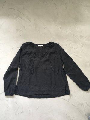 Dunkelgraue Tunika-Bluse // H&M