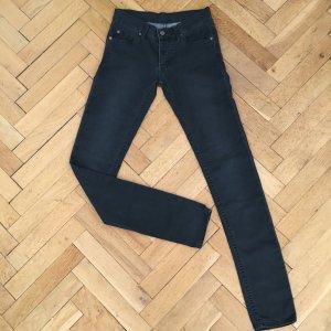 Dunkelgraue weiche Jeans von Cheap Monday, Größe 26/34, Narrow Tonki Used Black