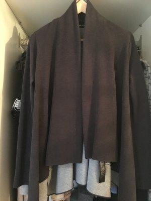 Dunkelgraue Zara Oversized Weste in S