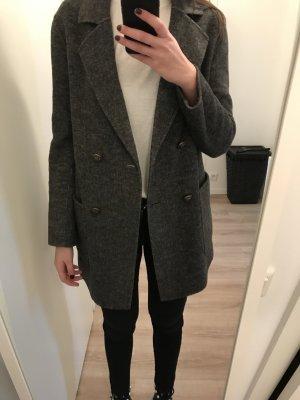 Dunkelgraue Zara Wolljacke Größe M
