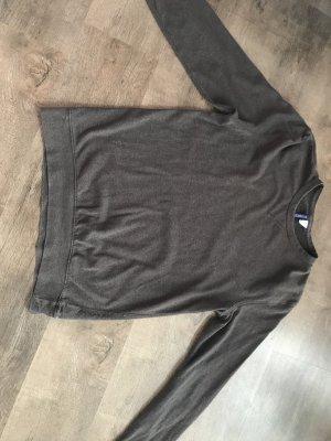 Dunkelgrauer dünner Pullover von h&m