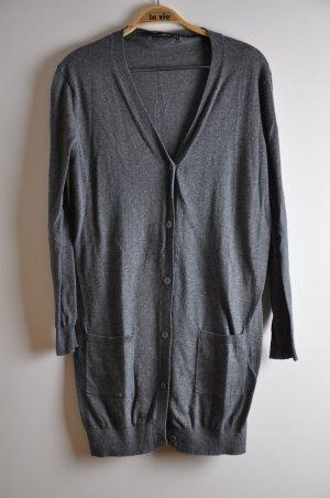 Dunkelgrauer Feinstrick Cardigan von Zara