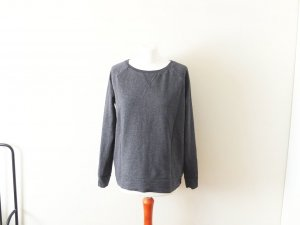 dunkelgrauer H&M basic jersey Sweater Gr. M 38 40 baumwoll sweat