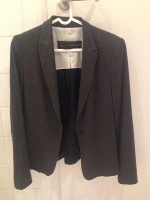 Zara Blazer en jersey gris foncé