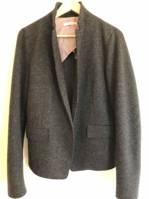 Esprit Blazer de lana gris antracita Poliéster