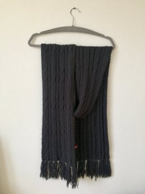 Edc Esprit Knitted Scarf dark grey