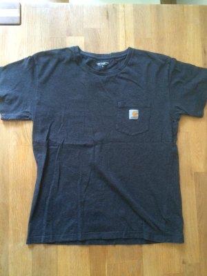 Dunkelgraues Carhartt T-Shirt mit Brusttasche
