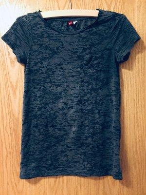 Dunkelgraues H&M-Shirt mit Muster