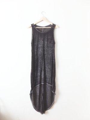 dunkelgraues H&M Vokuhila Kleid Gr. M 40 batik ombre
