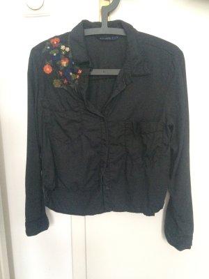 Dunkelgraues Hemd mit Blumenmuster