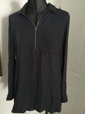 Dunkelgraues Hemd mit Reißverschluss