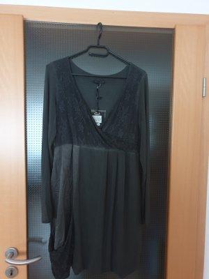 dunkelgraues Kleid mit Ausschnitt von Ancora