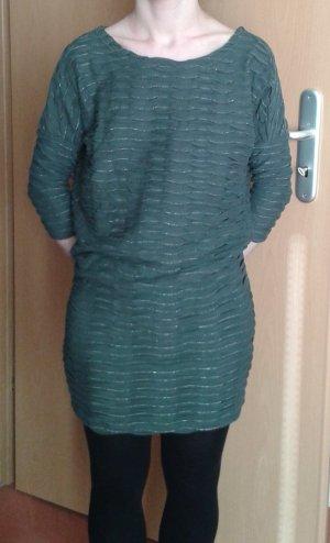 dunkelgraues Kleid mit Lurexfäden von Vila, Gr. XS
