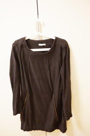 dunkelgraues Kleid mit Reißverschlüssen von Selected Femme