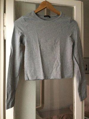 Dunkelgraues kurzes Basic Shirt Größe S