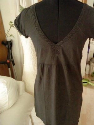 dunkelgraues Shirt - Kleid mit V - Ausschnitt Only M