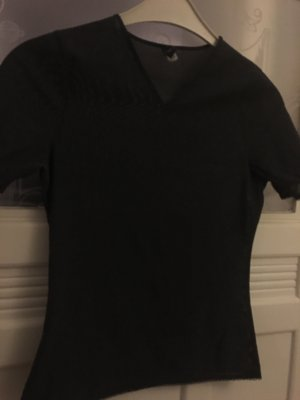 Dunkelgraues Shirt von JOOP! aus netzartigem Stoff mit Spitze an den Rändern