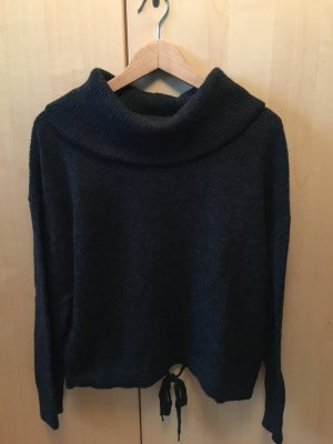 Dunkelgraumelierter Pullover