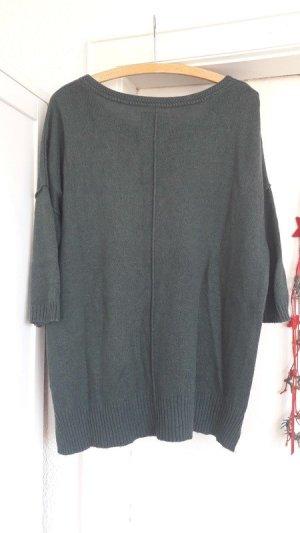 Dunkelgrün tannengrüner Pullover Pulli locker oversize
