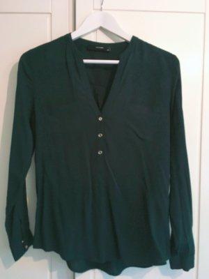 Dunkelgrüne Bluse aus feinem Stoff Hallhuber