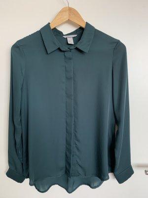 H&M Blouse brillante vert foncé