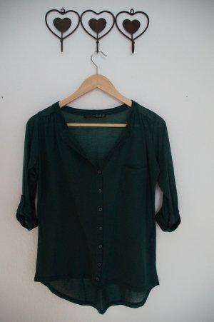 dunkelgrüne dünne Bluse
