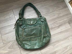 Dunkelgrüne Handtasche von Fossil