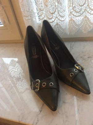 5th Avenue Shoes dark green leather