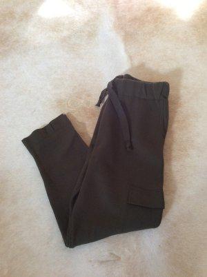 Zara Pantalone verde scuro-verde bosco Cotone