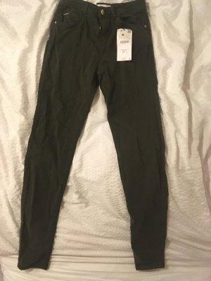 Bershka Drainpipe Trousers dark green