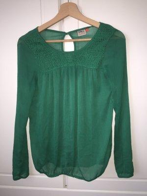 dunkelgrüne Only Bluse