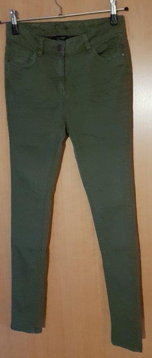 dunkelgrüne skinny Jeans