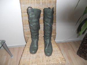 Dunkelgrüne Stiefel Gr. 41