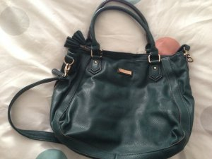 Shopper forest green imitation leather