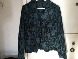 dunkelgrüner Blazer mit Muster