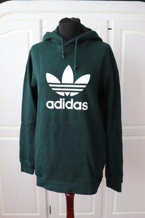 Dunkelgrüner Hoodie Sweatshirt Sweater von Adidas Größe S