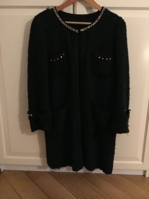 Zara Wool Coat petrol-dark green