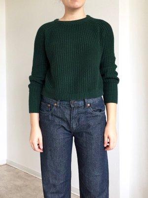 Dunkelgrüner minimalistischer Pulli von American Apparel aus Baumwolle