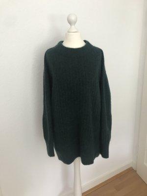 Dunkelgrüner Mohair Pullover von H&M