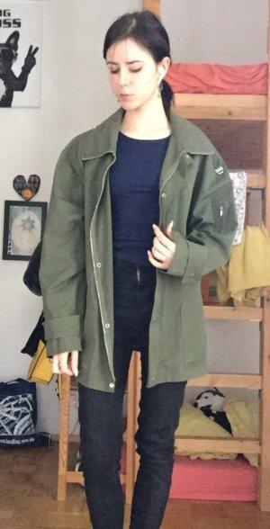 Long Jacket khaki-green grey