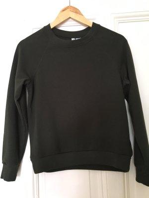 Dunkelgrüner Raglan-Sweater von H&M