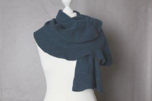 Dunkelgrüner / -türkiser Schal mit Volants von Promod NEU